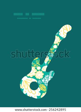 vector emerald flowerals guitar