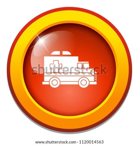 vector emergency ambulance car, hospital ambulance vehicle. help medical care transportation