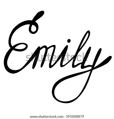 vector emily name lettering