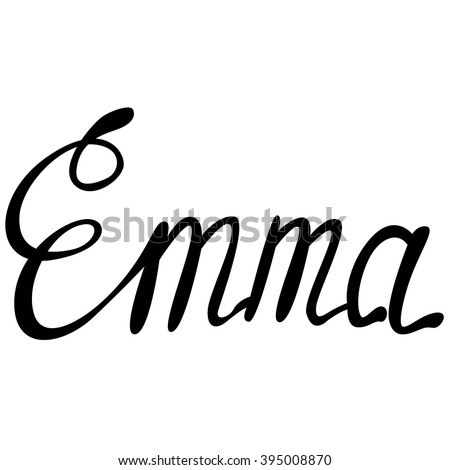 vector emma name lettering