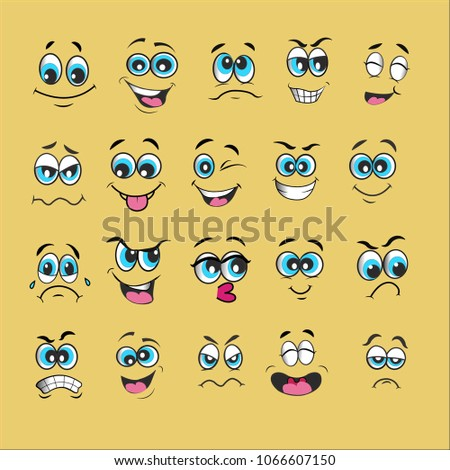 vector emoticons emoji set. cartoon face expression #1066607150