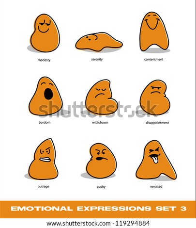 vector emotional expressions set 3