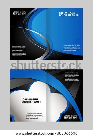 vector empty bifold brochure print template design ez canvas