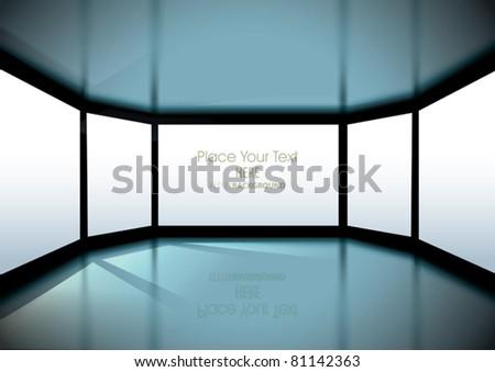 vector empty interior with big