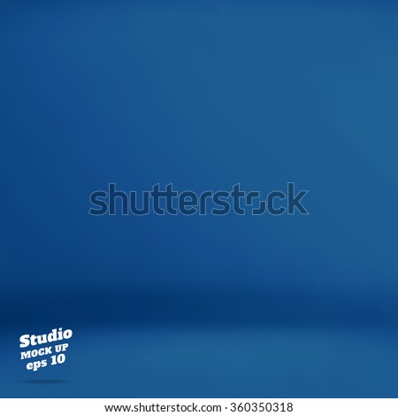 vector  empty navy blue studio