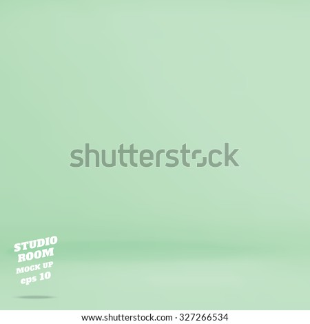 Vector : Empty pastel green studio room background ,Template mock up for display of product,Business backdrop