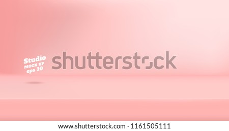 stock-vector-vector-empty-pastel-pink-color-studio-table-room-background-product-display-with-copy-space-for