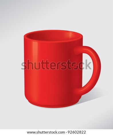 vector empty red mug