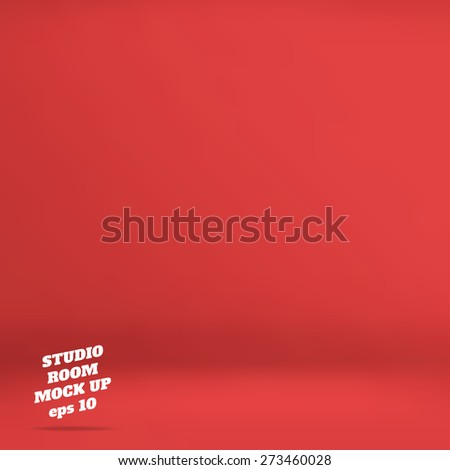 vector   empty red studio room