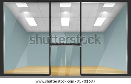 vector empty shop interior