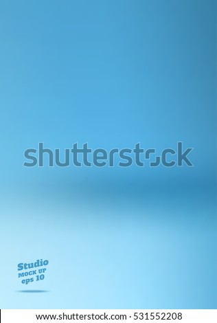 vector empty soft blue studio