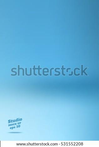 vector empty soft blue studio