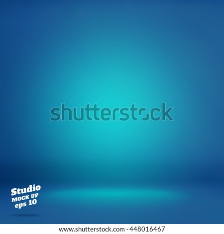 Vector,Empty vivid lighting blue studio room background ,Template mock up for display or montage of product,Business backdrop