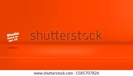 vector empty vivid red orange