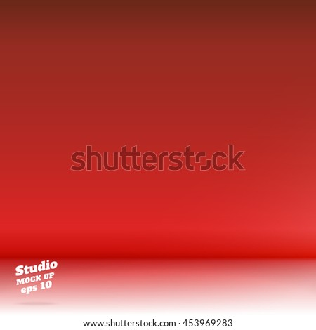 Vector,Empty white floor gradient to vivid red studio room background ,Template mock up for display or montage of product,Business backdrop. - Shutterstock ID 453969283