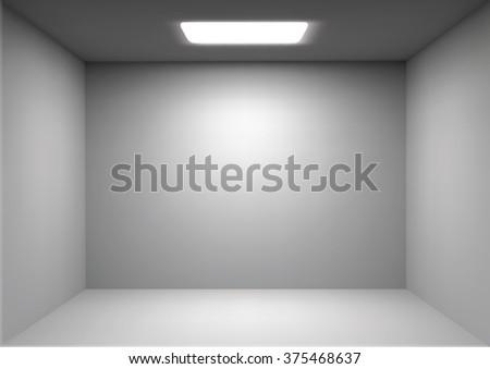 vector empty white room render