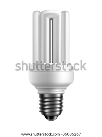Vector energy saving lamp. Isolated on white background