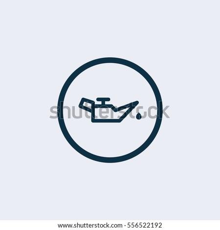 Vector engine oil icon