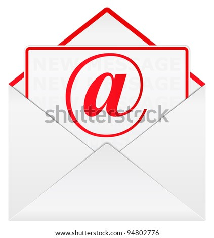 Vector envelope with email sign