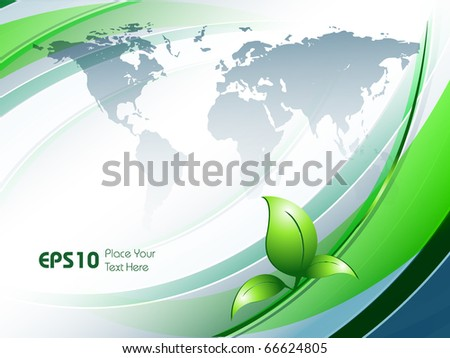 vector environmental background with map and copy space. Eps10