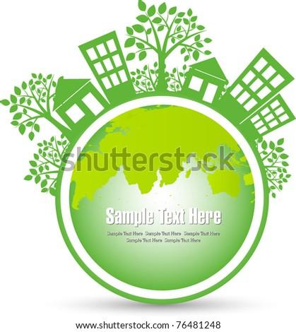 vector environmental concept of earth