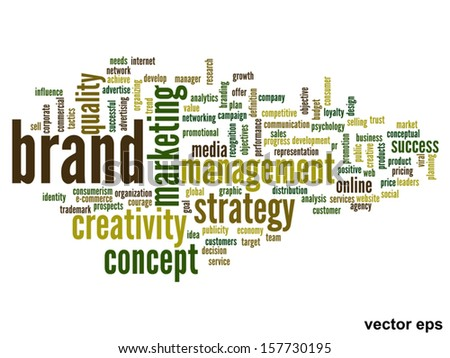 Vector eps concept or conceptual abstract word cloud on white background as metaphor for business,trend,media,focus,market,value,product,advertising or customer.Also for corporate wordcloud