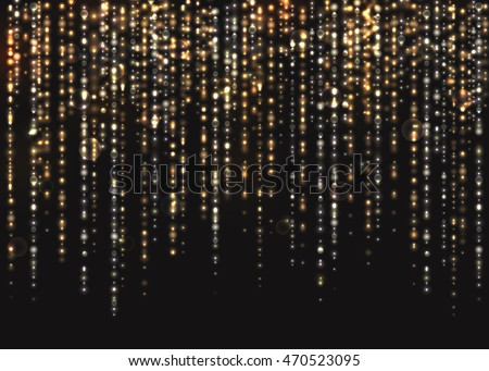 VECTOR eps 10. Glowing collection. Glitter lines and light effects isolated and grouped. Transparent sunlight lens flare. Shining elements and stars. Gold, silver, white colors. Golden texture, rings