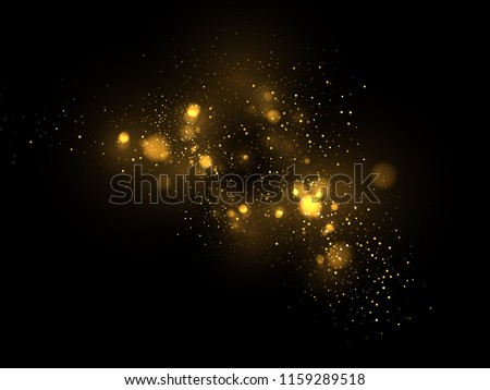 vector eps 10 golden particles