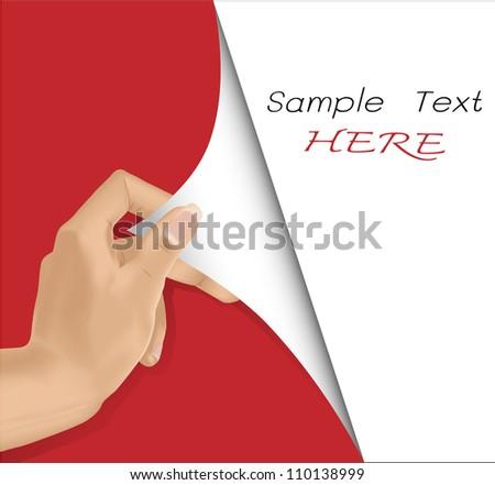 Vector EPS 10- hand open blank sheet of paper