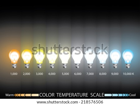 Vector EPS 10,info graphics,  Light color temperature scale