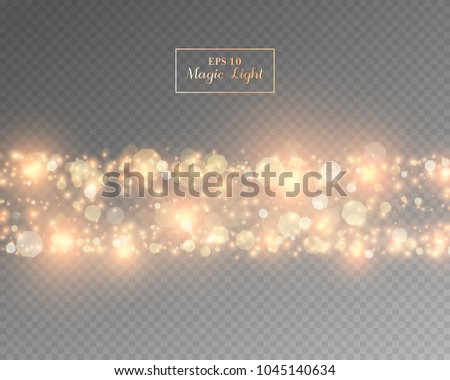 Vector eps 10 isolated transparent light effect #1045140634