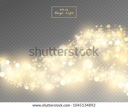 Vector eps 10 isolated yellow transparent light effect #1045134892