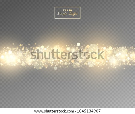 Vector eps 10 isolated yellow transparent light effect #1045134907