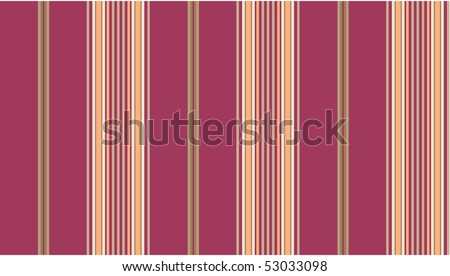 Vector eps8.  Pink and tan striped continuous seamless fabric or wallpaper background.