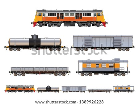 vector eps10   set of freight