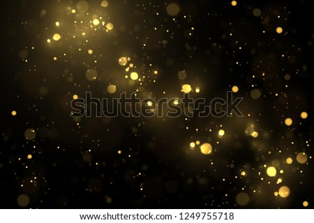 Vector eps 10 sparkling gold particles. Golden bokeh lights abstract background #1249755718