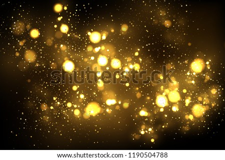 Vector eps 10 sparkling golden particles. Gold glitter abstract luxury background