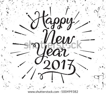 Happy New Year Vector Hand Lettering Download Free Vector Art