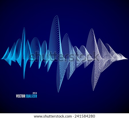 vector equalizer  colorful