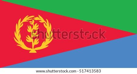 Vector Eritrea flag, Eritrea flag illustration, Eritrea flag picture, Eritrea flag image
