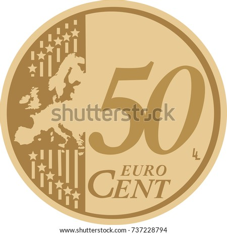 vector 50 euro cent coin