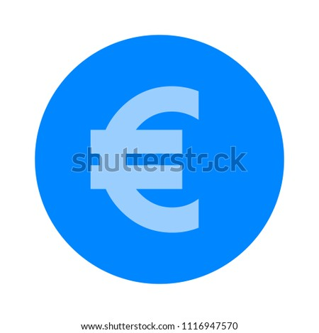 vector euro money illustration isolated, investment business finance icon