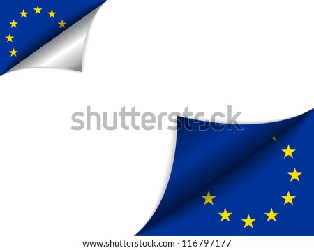 Vector - Europe Country Flag Turning Page