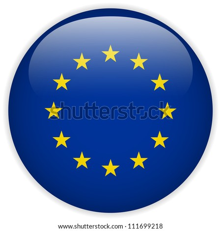 vector   europe flag glossy