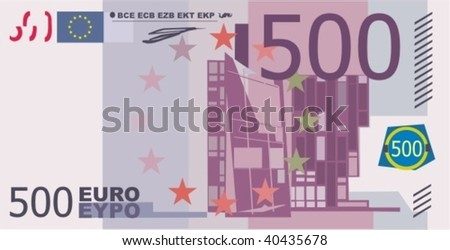 vector evropean paper money 500