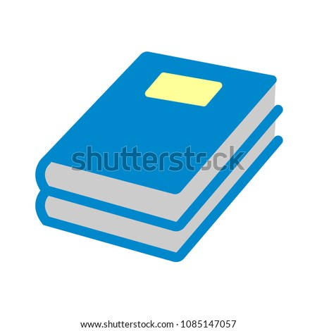 vector exercise book illustration icon - education icon, book isolated
