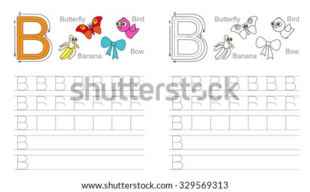 Royalty-free Writing practice letter B printable… #232965163 Stock ...