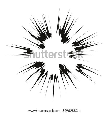 vector explode flash   star