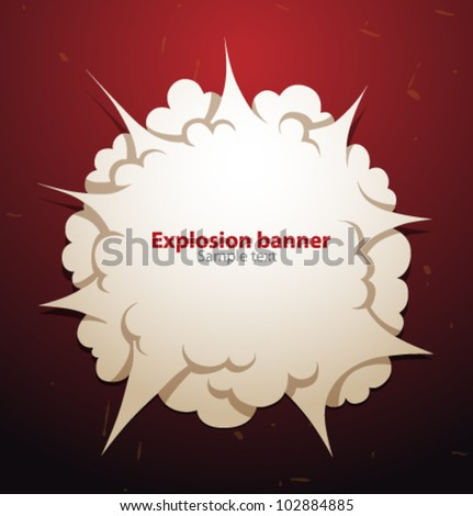 vector explosion banner