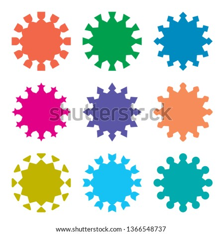 vector explosion shapes. vector wheel shapes. vector geometric shapes